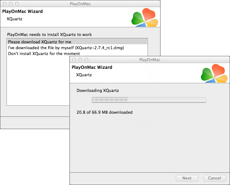 Follow the wizard prompts to install XQuartz