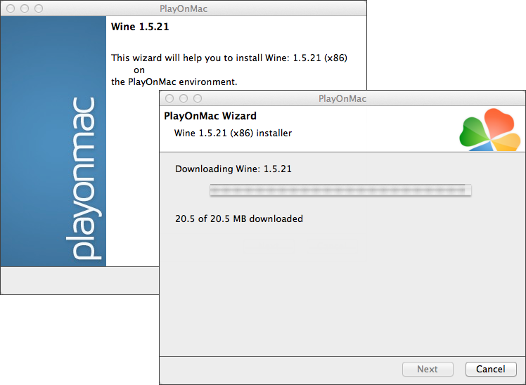 Follow the wizard prompts to update Wine to the latest version